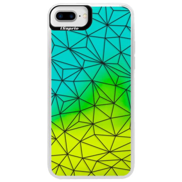 Neonové pouzdro Blue iSaprio - Abstract Triangles 03 - black - iPhone 7 Plus