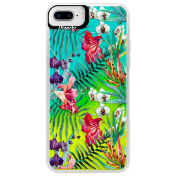 Neonové pouzdro Blue iSaprio - Flower Pattern 03 - iPhone 7 Plus