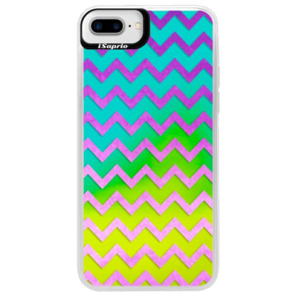 Neonové pouzdro Blue iSaprio - Zigzag - purple - iPhone 7 Plus