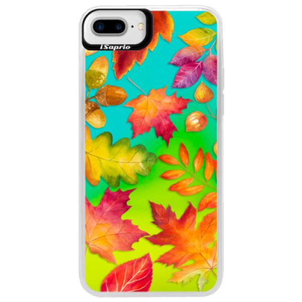 Neonové pouzdro Blue iSaprio - Autumn Leaves 01 - iPhone 7 Plus