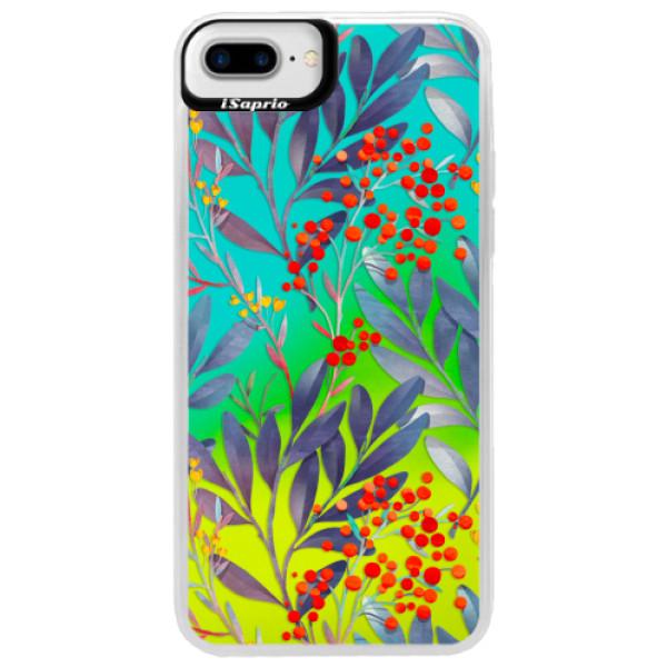 Neonové pouzdro Blue iSaprio - Rowanberry - iPhone 7 Plus