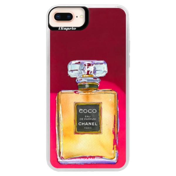 Neonové pouzdro Pink iSaprio - Chanel Gold - iPhone 8 Plus