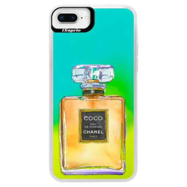 Neonové pouzdro Blue iSaprio - Chanel Gold - iPhone 8 Plus