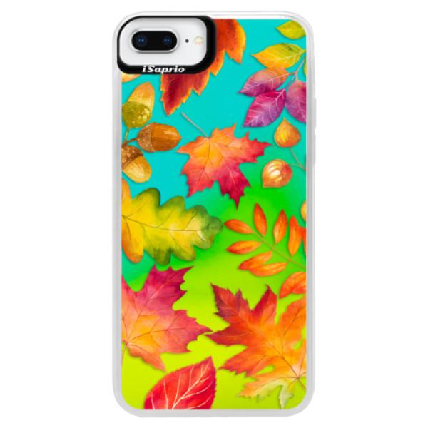 Neonové pouzdro Blue iSaprio - Autumn Leaves 01 - iPhone 8 Plus