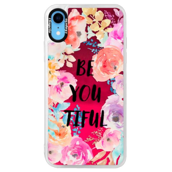 Neonové pouzdro Pink iSaprio - BeYouTiful - iPhone XR