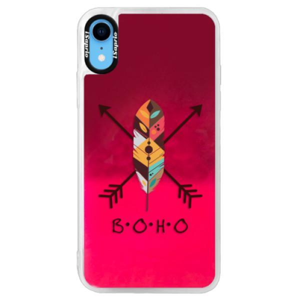 Neonové pouzdro Pink iSaprio - BOHO - iPhone XR