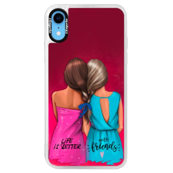 Neonové pouzdro Pink iSaprio - Best Friends - iPhone XR
