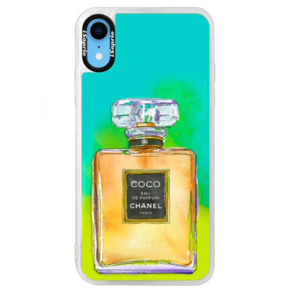 Neonové pouzdro Blue iSaprio - Chanel Gold - iPhone XR