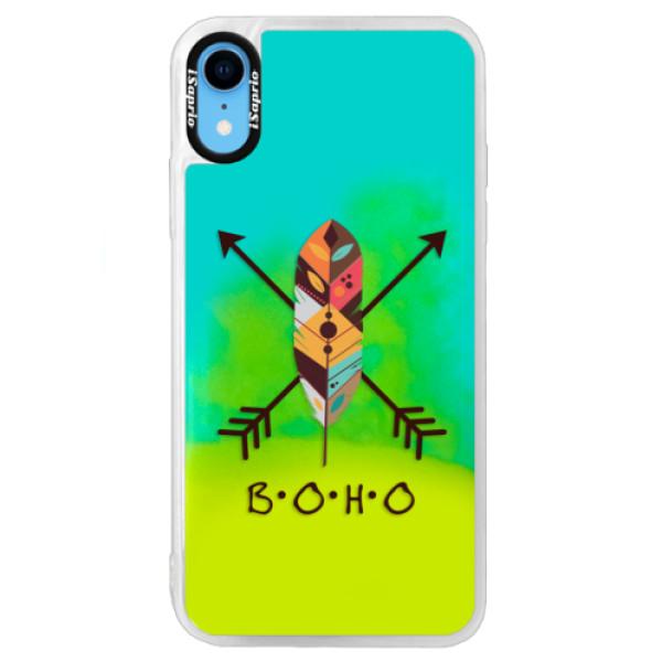 Neonové pouzdro Blue iSaprio - BOHO - iPhone XR