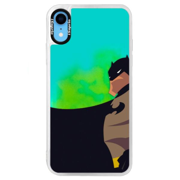 Neonové pouzdro Blue iSaprio - BaT Comics - iPhone XR