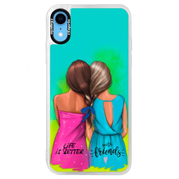 Neonové pouzdro Blue iSaprio - Best Friends - iPhone XR