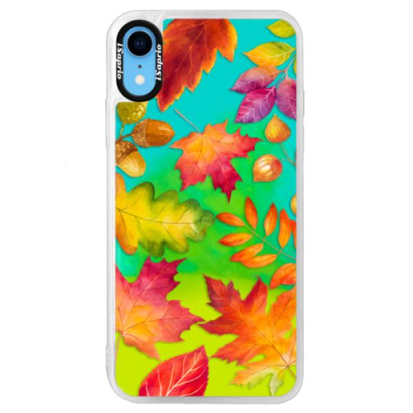 Neonové pouzdro Blue iSaprio - Autumn Leaves 01 - iPhone XR