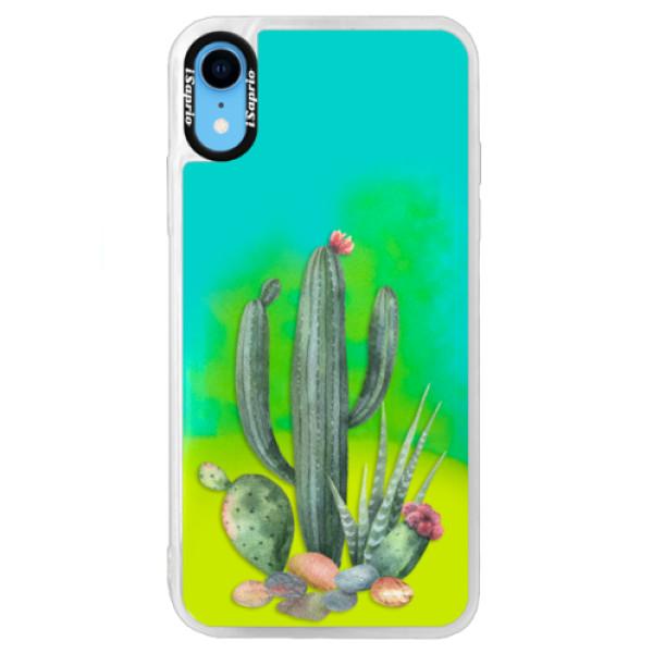 Neonové pouzdro Blue iSaprio - Cacti 02 - iPhone XR