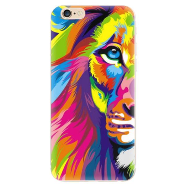 Levně Odolné silikonové pouzdro iSaprio - Rainbow Lion - iPhone 6/6S