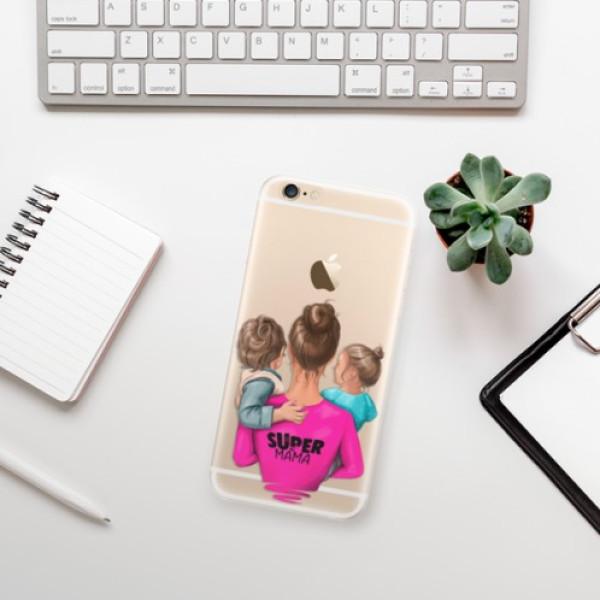 Silikonové odolné pouzdro iSaprio Super Mama & Boy and Girl na mobil Apple iPhone 6 / Apple iPhone 6S - poslední kousek za tuto cenu