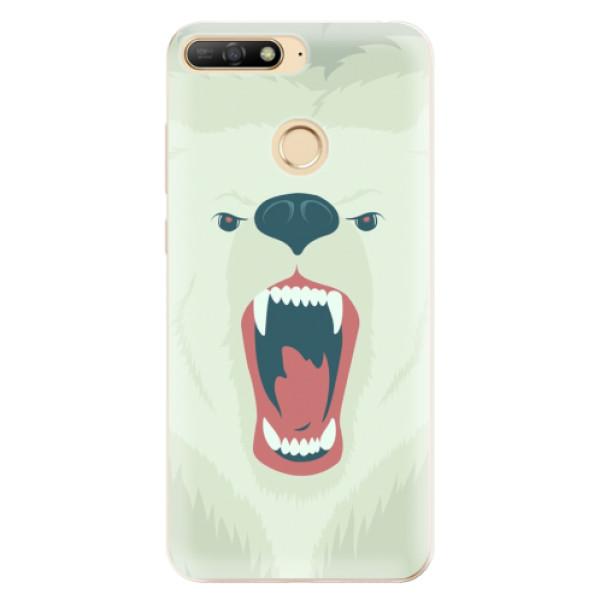 Odolné silikonové pouzdro iSaprio - Angry Bear - Huawei Y6 Prime 2018