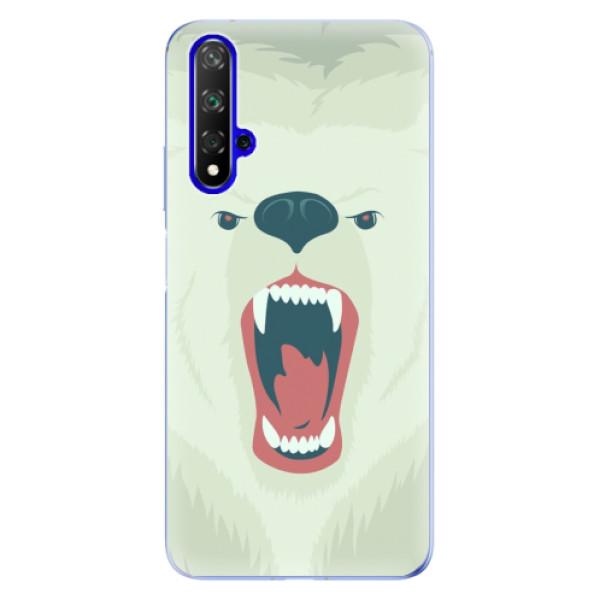 Odolné silikonové pouzdro iSaprio - Angry Bear - Huawei Honor 20