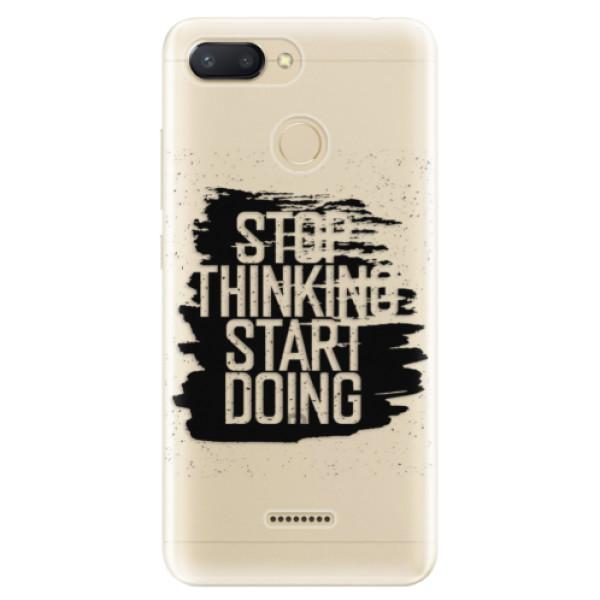 Odolné silikonové pouzdro iSaprio - Start Doing - black - Xiaomi Redmi 6