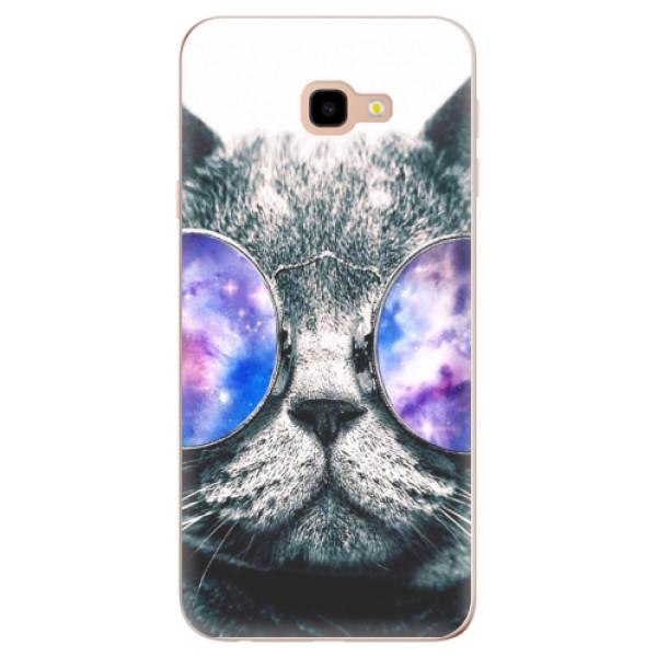 Odolné silikonové pouzdro iSaprio - Galaxy Cat - Samsung Galaxy J4+