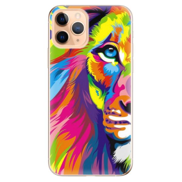 Odolné silikonové pouzdro iSaprio - Rainbow Lion - iPhone 11 Pro