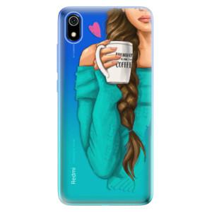 Silikonové odolné pouzdro iSaprio - My Coffe and Brunette Girl na mobil Xiaomi Redmi 7A