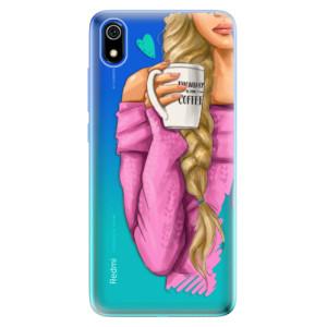 Silikonové odolné pouzdro iSaprio - My Coffe and Blond Girl na mobil Xiaomi Redmi 7A