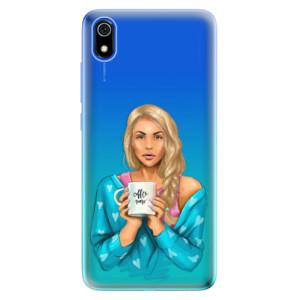 Silikonové odolné pouzdro iSaprio - Coffe Now - Blond na mobil Xiaomi Redmi 7A