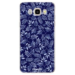 Odolné silikonové pouzdro iSaprio - Blue Leaves 05 na mobil Samsung Galaxy J5 2016