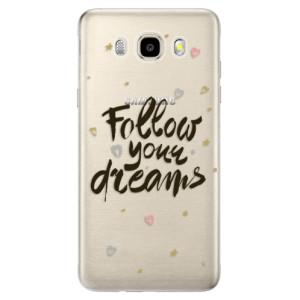 Odolné silikonové pouzdro iSaprio - Follow Your Dreams - black na mobil Samsung Galaxy J5 2016