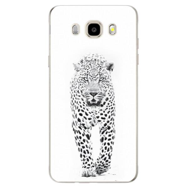 Odolné silikonové pouzdro iSaprio - White Jaguar na mobil Samsung Galaxy J5 2016 (Odolný silikonový obal, kryt pouzdro iSaprio - White Jaguar - na mobilní telefon Samsung Galaxy J5 2016)