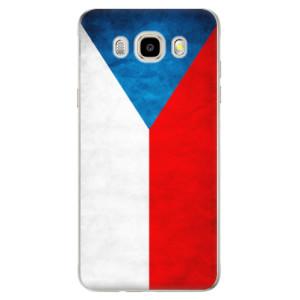 Odolné silikonové pouzdro iSaprio - Czech Flag na mobil Samsung Galaxy J5 2016