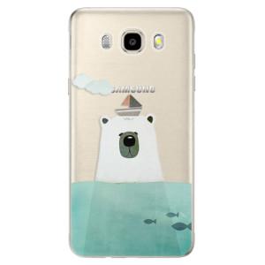 Odolné silikonové pouzdro iSaprio - Bear With Boat na mobil Samsung Galaxy J5 2016