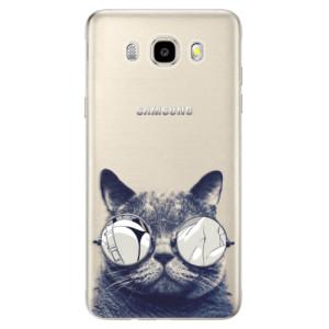 Odolné silikonové pouzdro iSaprio - Crazy Cat 01 na mobil Samsung Galaxy J5 2016