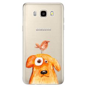 Odolné silikonové pouzdro iSaprio - Dog And Bird na mobil Samsung Galaxy J5 2016
