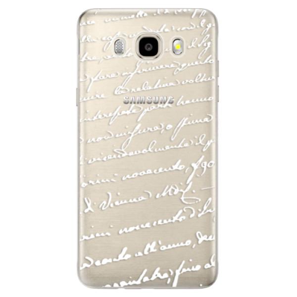 Odolné silikonové pouzdro iSaprio - Handwriting 01 - white na mobil Samsung Galaxy J5 2016 (Odolný silikonový obal, kryt pouzdro iSaprio - Handwriting 01 - white - na mobilní telefon Samsung Galaxy J5 2016)