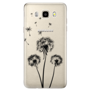 Odolné silikonové pouzdro iSaprio - Three Dandelions - black na mobil Samsung Galaxy J5 2016