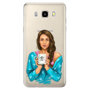 Odolné silikonové pouzdro iSaprio - Coffe Now - Brunette na mobil Samsung Galaxy J5 2016