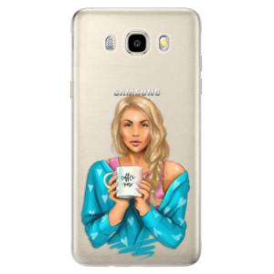 Odolné silikonové pouzdro iSaprio - Coffe Now - Blond na mobil Samsung Galaxy J5 2016