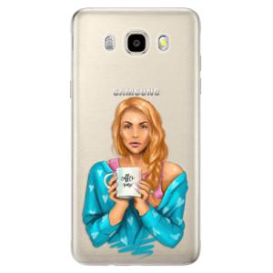 Odolné silikonové pouzdro iSaprio - Coffe Now - Redhead na mobil Samsung Galaxy J5 2016