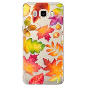 Odolné silikonové pouzdro iSaprio - Autumn Leaves 01 na mobil Samsung Galaxy J5 2016