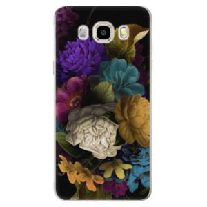 Odolné silikonové pouzdro iSaprio - Dark Flowers na mobil Samsung Galaxy J5 2016