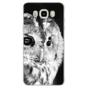 Odolné silikonové pouzdro iSaprio - BW Owl na mobil Samsung Galaxy J5 2016