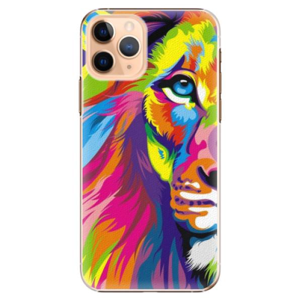 Plastové pouzdro iSaprio - Rainbow Lion - iPhone 11 Pro