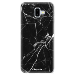 Odolné silikonové pouzdro iSaprio - Black Marble 18 - na mobil Samsung Galaxy J6 Plus