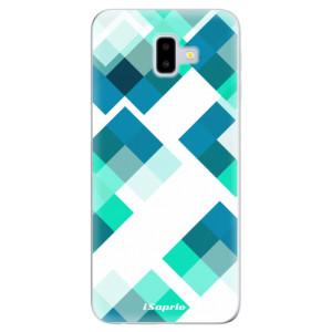 Odolné silikonové pouzdro iSaprio - Abstract Squares 11 - na mobil Samsung Galaxy J6 Plus