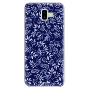 Odolné silikonové pouzdro iSaprio - Blue Leaves 05 - na mobil Samsung Galaxy J6 Plus