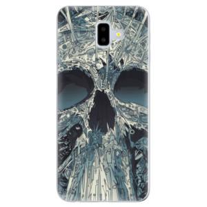Odolné silikonové pouzdro iSaprio - Abstract Skull - na mobil Samsung Galaxy J6 Plus