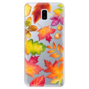 Odolné silikonové pouzdro iSaprio - Autumn Leaves 01 - na mobil Samsung Galaxy J6 Plus