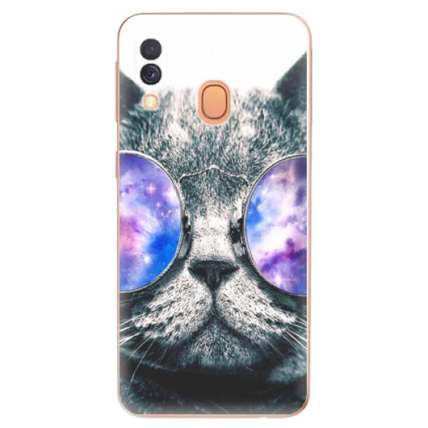 Odolné silikonové pouzdro iSaprio - Galaxy Cat - Samsung Galaxy A40