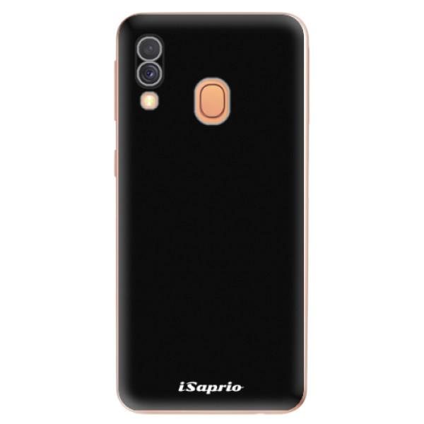 Odolné silikonové pouzdro iSaprio - 4Pure - černý - Samsung Galaxy A40